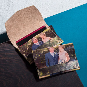 Personalised Photo Leather Card Holder