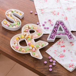 Alphabet Party Dishes - decoration