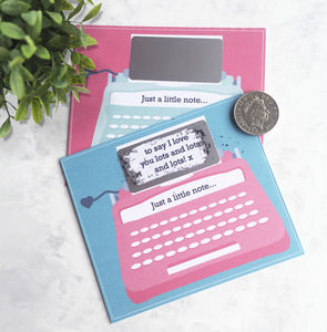 Just A Note Personalised Typewriter Scratchcard