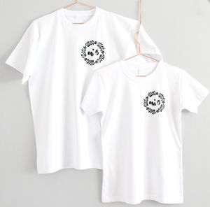 Mr And Mrs Personalised Wreath Wedding T Shirts