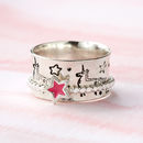 Unicorn Sterling Silver Spinner Ring