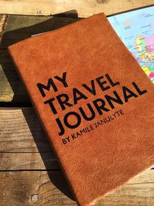 Personalised Travel Journal Diary In Luxury Leather - travel journals & diaries