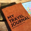 Personalised Travel Journal In Luxury Leather