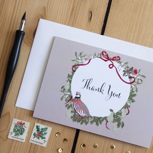 Christmas Thank You Card - thank you cards