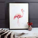 Framed Flamingo Print | Limited Edition