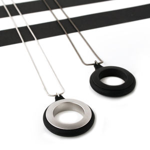 Men's Modern Round Necklace - necklaces