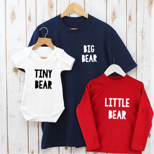 Father's Day Bear Family Matching T Shirts