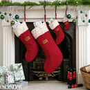 Set Of Five Christmas Stockings