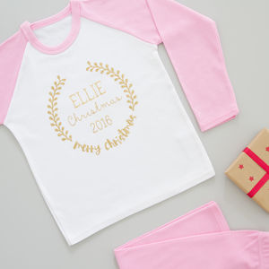 Childs Personalised Christmas Pyjamas - cosy clothing