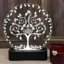 Personalised Heart Family Tree Table Light