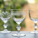 Set Of Six Ovals Art Deco Style Wine Goblets