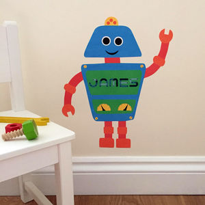 Personalised Robot Wall Sticker - children's room
