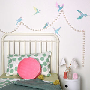 Budgies Fabric Reusable Wall Decals