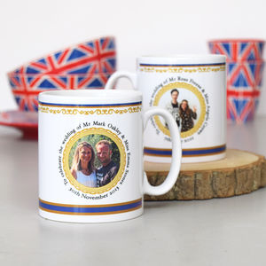 Personalised Commemorative Wedding Mug