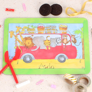 Safari Bus Placemat - tableware