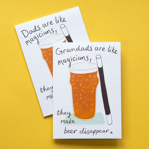 'Like Magicians' Funny Card For Dad Or Grandad