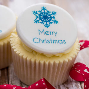 Merry Christmas Cupcake Decorations - cake decoration