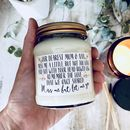 Personalised Bereavement Scented Soy Candle