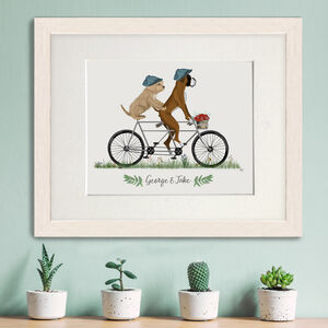 Personalised Dog On Bicycle Pet Portrait