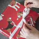 Beagle Giftwrap Red Wrapping Paper