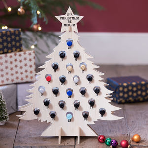 Refilable Wooden Advent Gin Christmas Tree - drink & barware