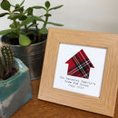 Personalised New Home Frame With Scottish Tartan Hoose