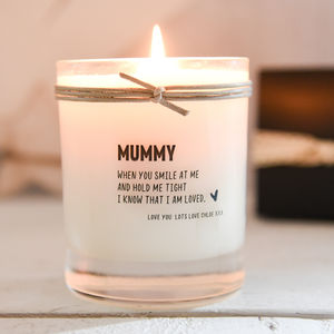 A Personalised Scented Candle For Mummy