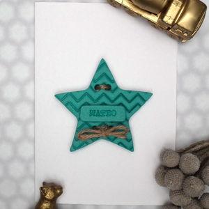 Personalised Chevron Keepsake Card