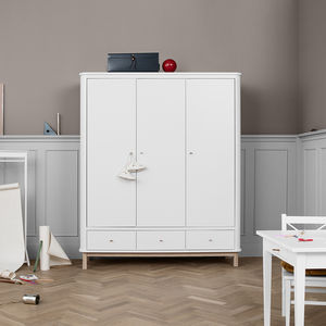 Classic Nordic Three Door Wardrobe - bedroom
