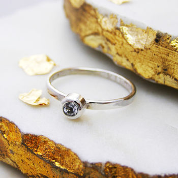 Personalised Stacking Rings With Semi Precious Stones