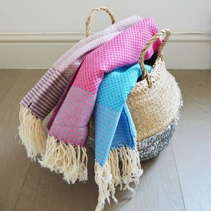 Stripy Cotton Guest Towel - bathroom