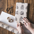 Alice In Wonderland Illustrations Wrapping Paper
