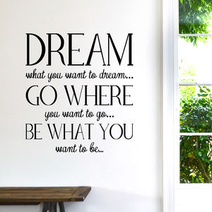 'New' Dream Wall Sticker - wall stickers