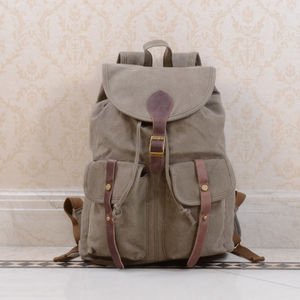 College Style Canvas Backpack For Students - new in fashion