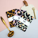 Leopard Print Tea Towel Trio