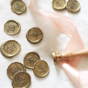 Self Adhesive Botanical Wax Seals - wedding stationery