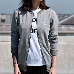 'Norfolk' Adult Grey Bomber T Shirt - women's fashion