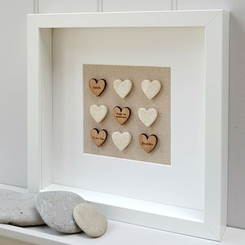 Linen Anniversary Love Hearts Artwork