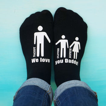 Personalised My Daddy And Me Men's Socks