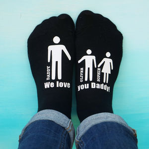 Personalised My Daddy And Me Men's Socks - winter sale