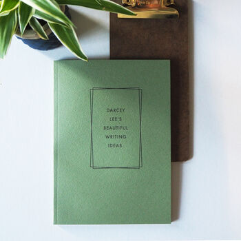 Personalised Recycled Papers Slimline Notebook