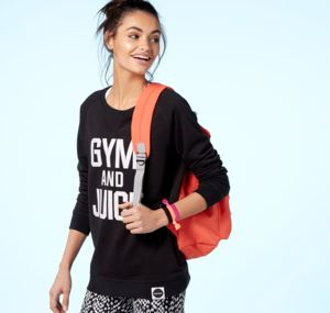 Gym And Juice Sweatshirt, Black - women's fashion