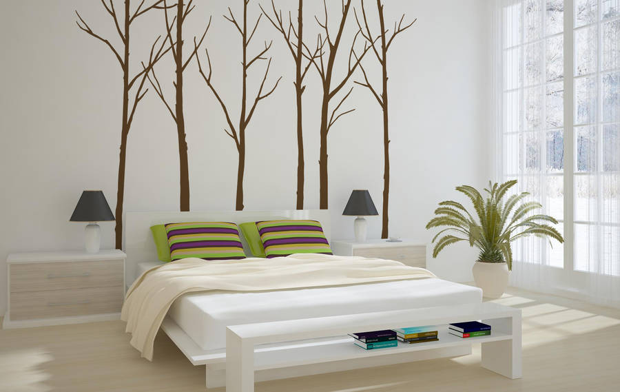 winter trees wall sticker by zazous notonthehighstreet com baroque balustrade wall sticker contemporary wall