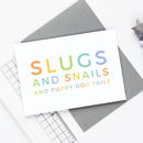 Slugs And Snails Baby Boy Card