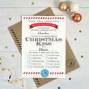 Personalised Christmas Kiss Voucher