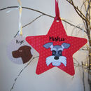 Dog Personalised Hanging Decoration