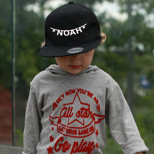 Personalised Banner Name Kid's Cap
