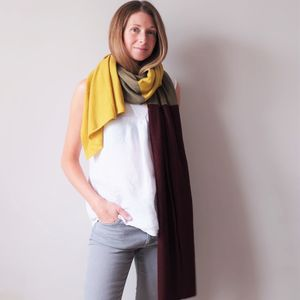 Multi Colour Cashmere Wool Wrap Shawl - scarves