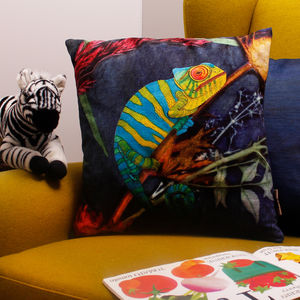 Cool Chameleon, Tropical Sofa Cushion Gift