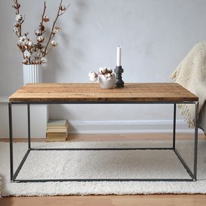Industrial Reclaimed Coffee Table - furniture